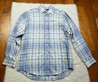 Vineyard Vines Button Up Plaid Shirt Slim Fit Tucker 100% Cotton Men's Medium