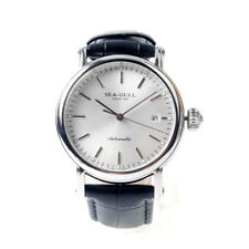 Seagull Classic 3 Hands Date Automatic Watch Black Genuine Leather M186s