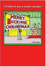 B1519 Box Set of 12 Merry _ucking Christmas Funny Christmas Cards /Envelopes