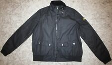 Barbour International TAIN Waxed Jacket in Black - UK Size 16 [3877]