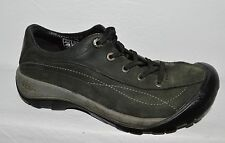 KEEN SZ 6 M 36 DARK OLIVE GREEN LEATHER LACE UP SNEAKERS OXFORDS FLATS SHOES
