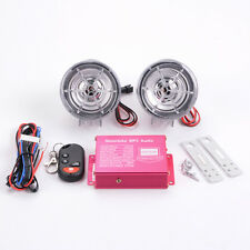 STO Scooter Audio Speaker Motor Radio MP3 Stereo Remote Control Transparent