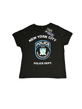 PRIMARK LADIES WOMENS ADULT NYC POLICE DEPT BADGE BLACK T SHIRT OFFICIAL BNWT 18