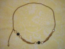 "Vintage Women'S Goldtone 44"" Chain Link / Mesh Belt ~ Pre-Owned"