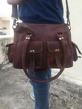 (vintage) women handmade leather bag leather purse gypsy shoulder cross body