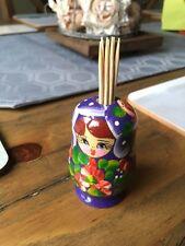 Russian Matryoshka Doll Toothpick Holder (New)