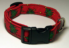 Wet Nose Designs Christmas Trees Dog Collar Winter Christmas red blue Holiday