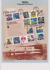 US FDC 1998-1999 4 Souvenir Pages Celebrate Century 1900s 1910s 1920s 1930s |