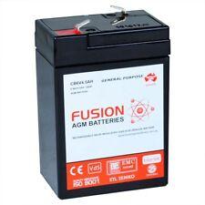 Fusion 6V 4.5Ah CB6V4.5AH AGM VRLA Security Back Up Alarm Battery