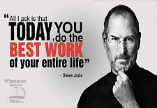 Steve Jobs Poster Print Quote Famous Picture Wall Art Canvas Life Gift All Sizes