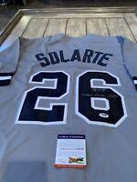 Yangervis Solarte Autographed/Signed Jersey PSA/DNA COA New York Yankees
