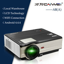LED LCD Smart Android Wifi Home Cinema Projector World Cup Game TV HDMI HD 1080p