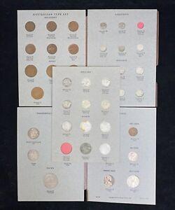 Dansco Album Australia Coin Type Set Missing 3 Coins