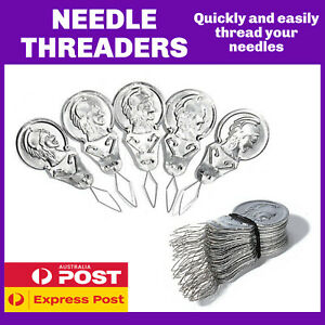 NEEDLE THREADERS | INSTRUCTIONS PROVIDED | SEWING NEEDLE THREADER
