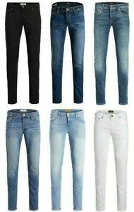 Jack & Jones Slim Fit Jeans Mens Blue Casual Work Denim Pants Trousers W28-38