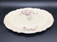 """Vintage """"HOMER LAUGHLIN"""" Virginia Rose 13 1/4"""" Oval Serving Dish /Platter A57N8."""
