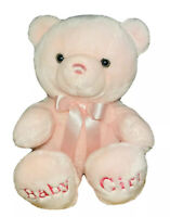 "Aurora ""Baby Girl"" Teddy Bear - Pink 13.5"" Plush Stuffed Animal"