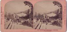 Heimwehfluh Jungfraublick SUISSE Photo DEMAY Stereo Vintage albumine ca 1870