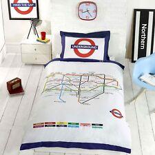 London Underground Tube Carte Housse Couette Simple et D'Oreiller Set Lit Neuf