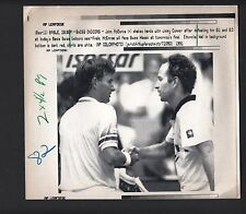 John McEnroe & Jimmy Connors 1991 Swiss Indoors Vintage Laser Press Photo