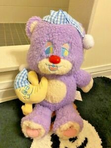 Sleepy Teddy Bear Purple Moon Bear Plush Toy Fairy Kei Fancy Toy