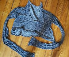 Skif Sweater wearable art cropped linen and silk with crazy long sleeves SKIF