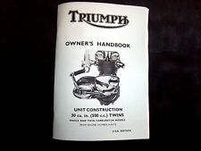 NEW Triumph T100 DAYTONA Owners Handbook 1969 OH5 2nd EDITION TH36US