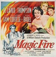 MAGIC FIRE Movie POSTER 30x30 Yvonne De Carlo Rita Gam Valentina Cortese Carlos