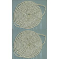 2 Pack of 3/4 Inch x 25 Ft White Double Braid Nylon Mooring and Docking Lines