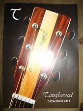 Tanglewood Catalogue 2013 guitar catalog