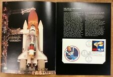 #1909 EAGLE $9.35 Express mail 1983 SPACE SHUTTLE CHALLENGER FLOWN COVER Folder