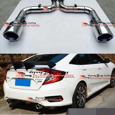 Rs Turbo Rear Bumper Exhaust Tail Pipe Muffler End tip Fo Honda Civic 10th 16-18