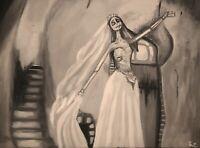 ORIGINAL Artwork Corpse Bride Creepy Gothic Painting