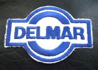 """DELMAR EMBROIDERED SEW ON PATCH OIL GAS ADVERTISING UNIFORM 4"""" x 2 1/2"""""""