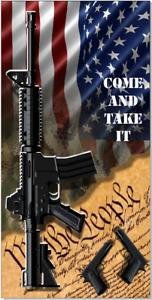 American Flag Gun Rights Cornhole Wrap Bag Toss Skin Decal Sticker