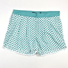 Zara Basic Women's Shorts Polka Dot Green White Small New