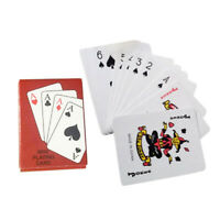 Foil Plated Board Game Playing Cards Set Waterproof Mini Poker Card Paper