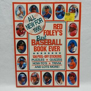 RED FOLEY'S BEST BASEBALL BOOK EVER FUN & FACT STICKER BOOK 1990 COMPLETE