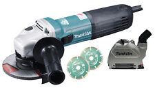 MAKITA SMERIGLIATRICE ANGOLARE 115 mm / 125 mm GA5040CJD1 Aspirazione PER TRACCE