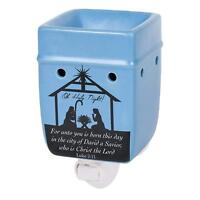 Christmas Nativity Stoneware Electric Plug-in Outlet Wax and Oil Warmer
