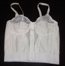 NIP Long Line FRONT CLOSURE Bra 38B WHITE