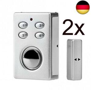 2x HOME GUARD SP65 drahtloser Fenster- & Tür-Alarm Garage silber Alarmanlage NEU