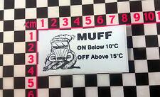 Muff Reminder Sticker for Citroen 2CV Dashboard