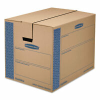 Bankers Box SmoothMove Prime Large Moving Boxes 24l x 18w x 18h Kraft/Blue 6