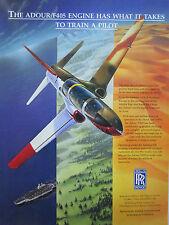 3/1997 PUB ROLLS-ROYCE ADOUR F405 T-45A GOSHAWK HAWK TRAINER ORIGINAL AD