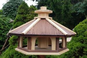 Vogelhaus mit Einsatz zum Füttern XXL,Holz,Vogelhäuschen,Futtersilo,Vogelstation