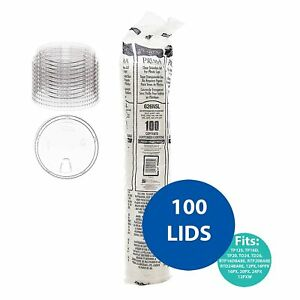 DART 626NSL Clear Strawless lid, Crystal Clear and Crack Resistant - [100 Pack]