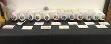 Danbury Mint Set Of 12 Goebel Hummel Porcelain Eggs On Stands Accented 23Kt Gold