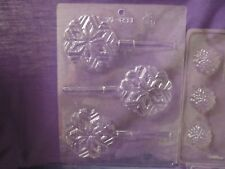 Christmas snowflakes reindeer chocolate candy molds LOT of 3