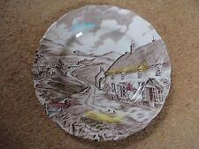 W H Grindley salad plate Quiet Day 22 cm diameter gloss decorative